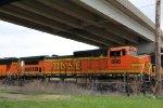 BNSF 896 Sits at Argentine yard.