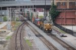 UP 6850 Leads a EB stack train through the West Bottoms.