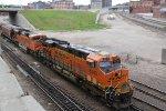 BNSF 6340 Shoves dpu on a loaded grain train..