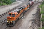 BNSF 6829 Leads a freight down the BNSF Fort Scott Sub.