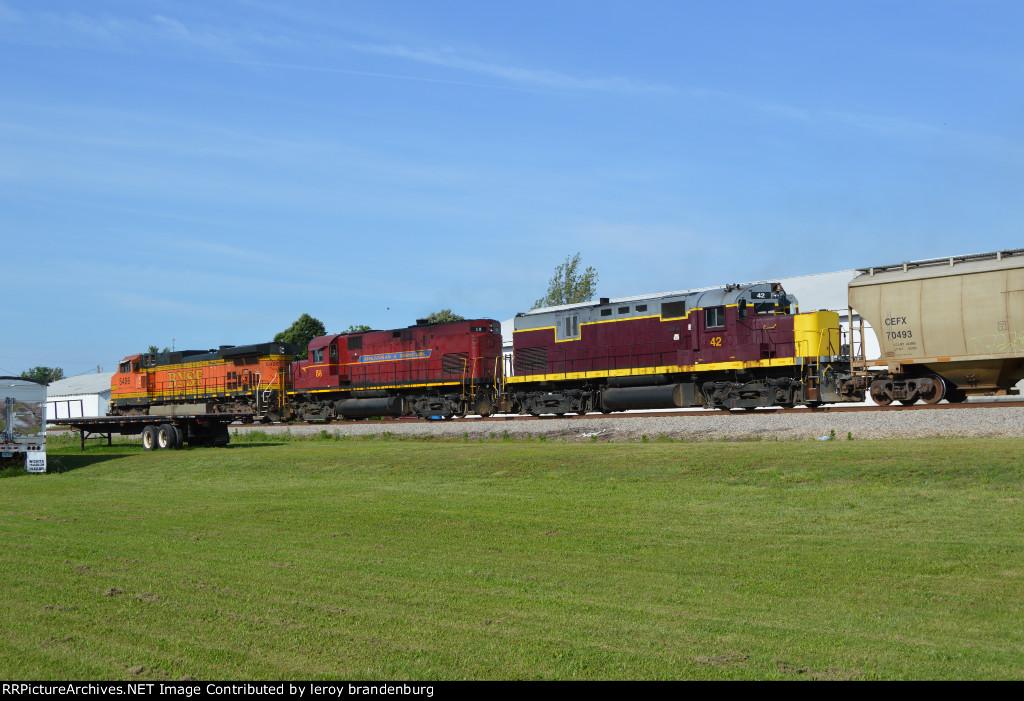 AM 42  backshot of the grain train