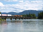 Eastbound BNSF/MRL manifest at Clark Fork River Bridge