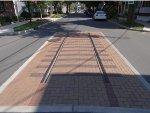Former trolley tracks