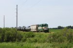 Ex-M&St.L rails creaking and groaning, IARR 3004 heads north