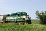 IARR 3004 approaches 160th St., the first crossing north of the Pine Lake ethanol plant