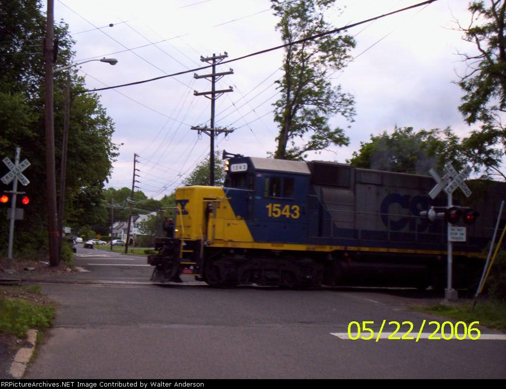 CSX 1543 crossing High St.