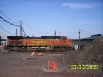 BNSF 4305 heading into the intermodal yard