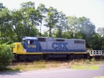 CSX 2735 leads a local back to Brown's Yard