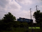 NS 1428 heading down the siding just off the P&H line