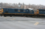 CSX Genset #1319 is the head unit of this 2 unit switching job