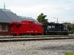 The display caboose at the old ICRR station