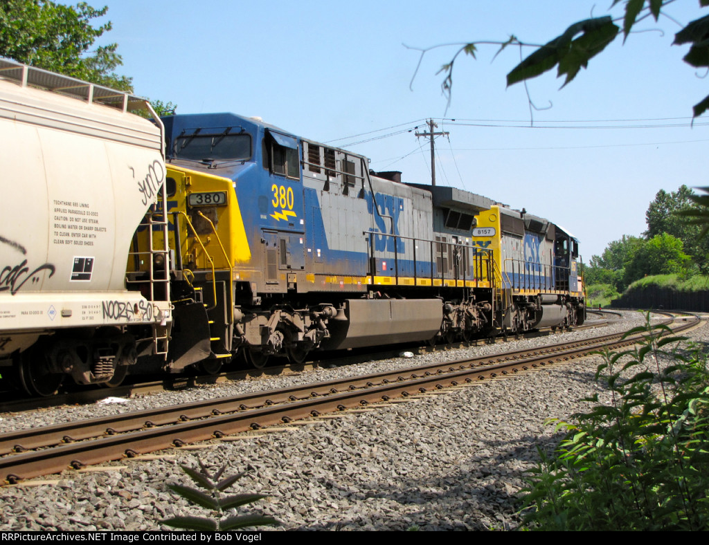 CSX 380 and 8157