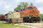 StoneCo's centercab Plymouth and a BNSF GEVo offer a comparison of models