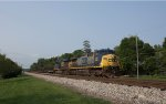 CSX 236 leads an unknown emtpy steel train.