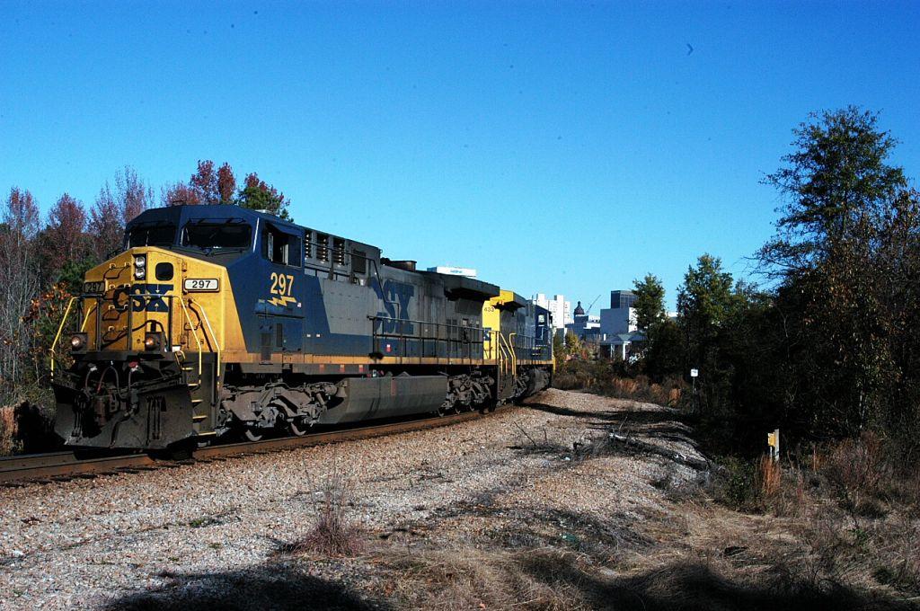 lite power off a csx coal train beats it into cayce yd