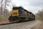 CSX 4016 & 7509 start the drop downhill into Grand Rapids with K901-02