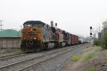 CSX 500 & CP 8732 lead the 197 cars of Q335 west through town