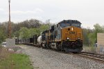 New and old provides the power as Q335 heads west onto Track 1 at Seymour