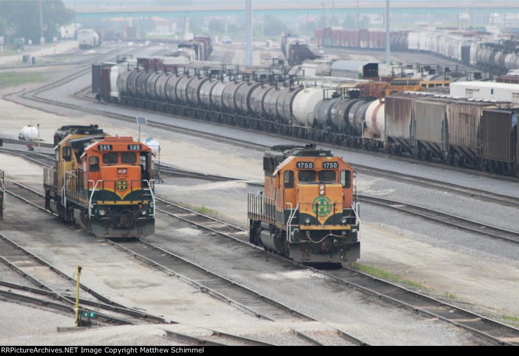 BNSF 1750 & BNSF 585