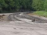 Curved run-around track