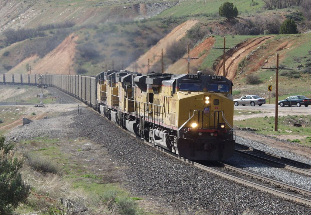 Empty Eastbound Coal Train Climbing Soldier Summit