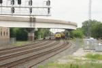 CSX 5004, UP 8112 wait at CP Brighton (CN)