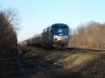 Westbound Amtrak long distance commuter train 07T