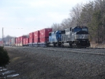 Eastbound stack cruises  towards MO and points east