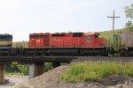 DME 6085 2nd unit on a empty grain train.