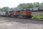 BNSF 4490 Heads up a WB KCKBAR..