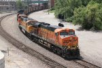 BNSF 6076 Heads up the Fort Scott Sub with a empty coal train.