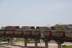 CP 8852 Heads up a WB BNSF stack train.