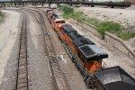 BNSF 6233 1 of 3 Dpu's on a SB loaded coal drag.