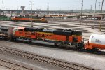 BNSF 9130 trails with the LNG set at Argentine yard.