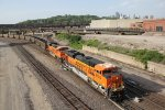 BNSF 8523 Brand new Ace leads a loaded coal drag Sb down the Fort Scott Sub.