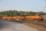 BNSF 7530 Heads up 3 unit's on a SB freight train..