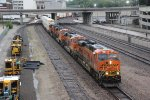 BNSF 7200 Heads a WB stack past Union station..