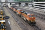 BNSF 7809 Slow's for track work on main 3.