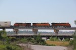 BNSF 6572 Leads a Stack up on the KCT flyover.