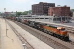 BNSF 4856 Leads lite power east past Union Station.