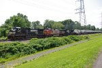 NS 9248, BNSF 750 & NS 9372