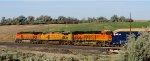 BNSF 4420 - UP 9758 - BNSF 7087