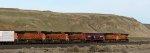 BNSF 6790 - BNSF 6585 - BNSF 7651 elephants meet-pass DPU BNSF 5224 - BNSF 5331