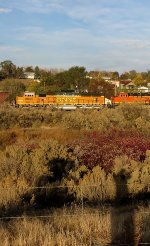 BNSF 8844 and photographer self-portrait