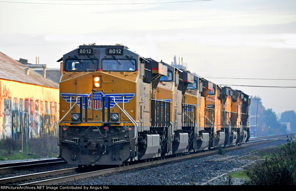 A string of UP engines through BKY depot