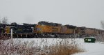 CSX trains at Forks on Christmas Eve