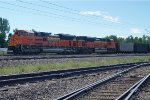 BNSF 8798 on lead end of empty coal train