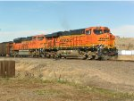 BNSF 6110 on lead of South bound coal train