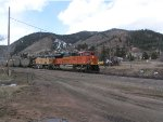BNSF 9284 and Up 6648 on North Bound empty coal train