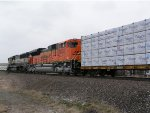 BNSF 8443 and 9686 Pushers on South Bound mixed freight Train headed by CP 8883